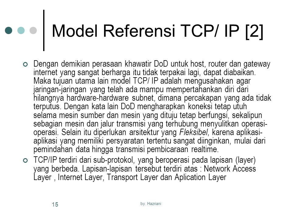 Model Referensi TCP/ IP [2]